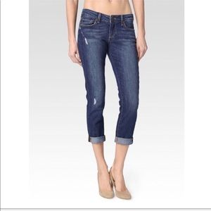 Paige • Jimmy Jimmy Blue Crop Slim Boyfriend Jeans